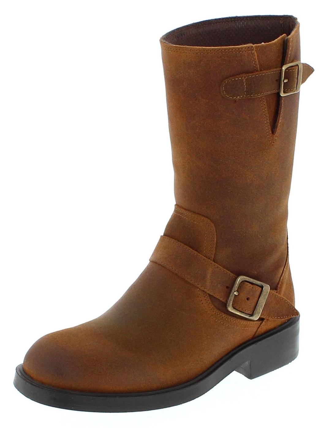FB Fashion Boots BU2006 Whisky Engineer Stiefel ohne Stahlkappe - braun