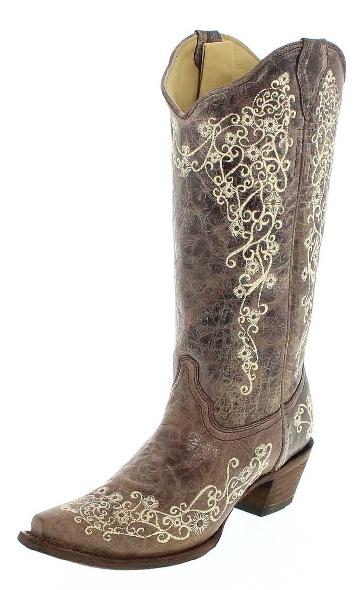 Corral Boots A1094 Brown ladies western boots - brown