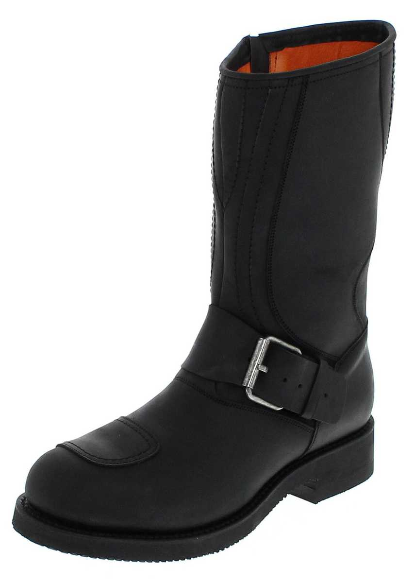 Mayura Boots 1594 Negro Engineer boot with steel toecap - black