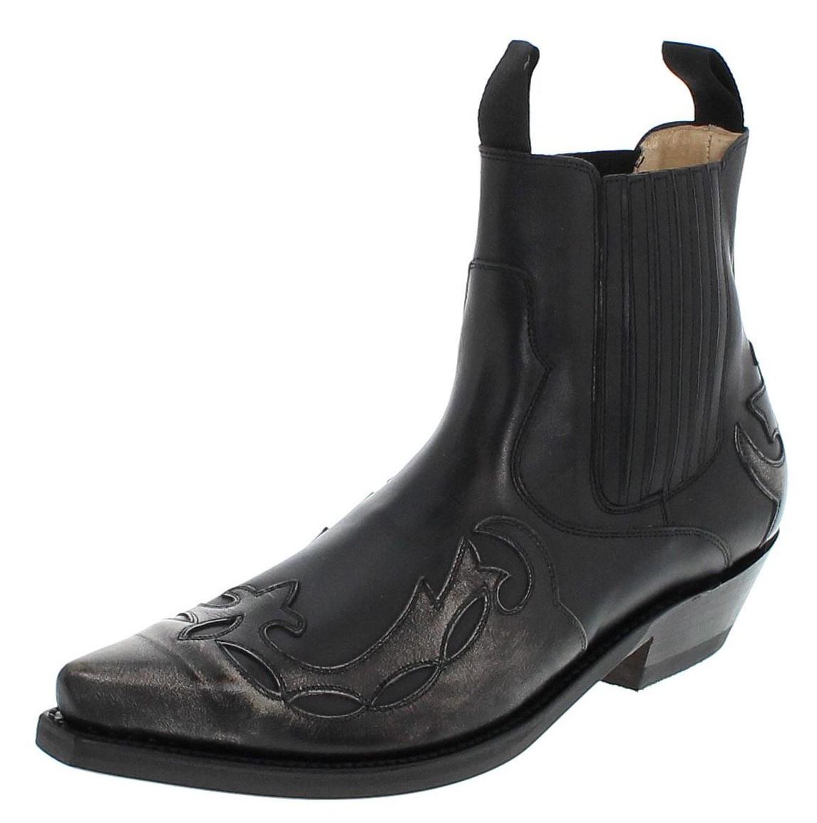 Mayura Boots 1931 Bone Negro  Westernstiefelette - black grey