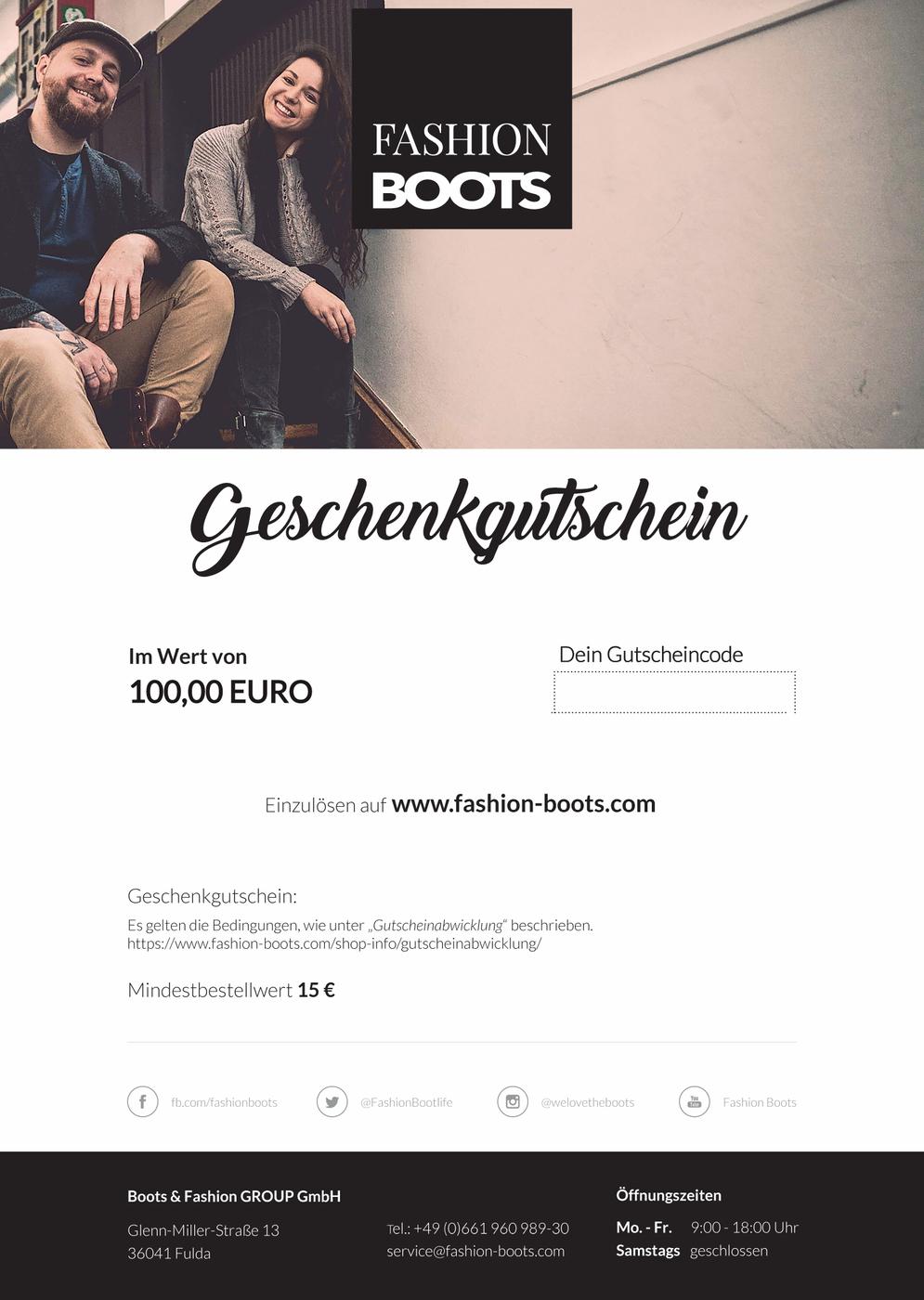 100,00 Euro Gutschein