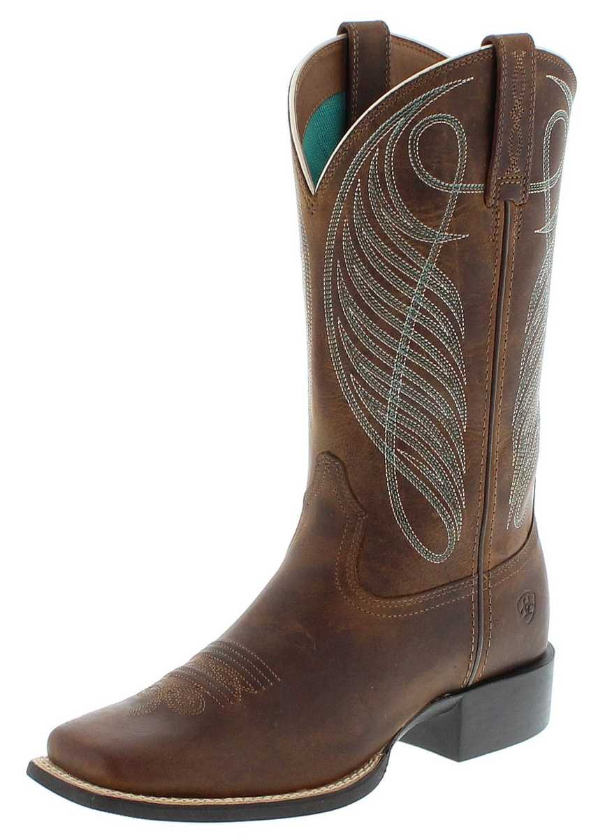 Ariat 18528 ROUND UP WST Brown Westernreitstiefel - braun