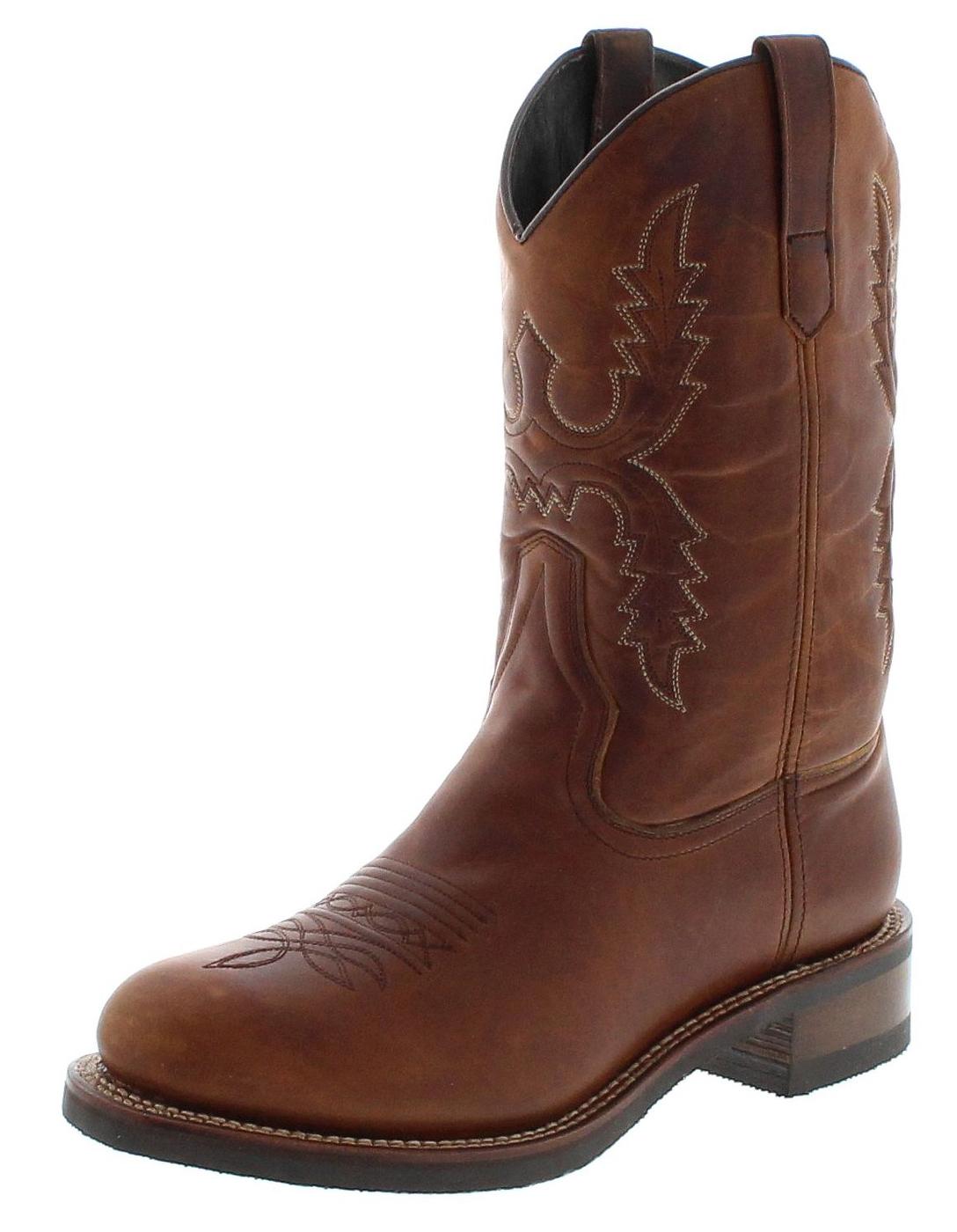 Sendra Boots 14340 Tang Herren Westernreitstiefel mit Thinsulate Isolierung - braun