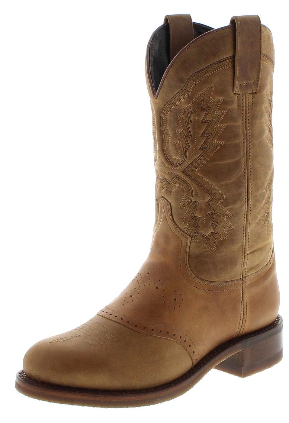Sendra Boots 14338 Tang Teak Herren Westernreitstiefel mit Thinsulate Isolierung - braun