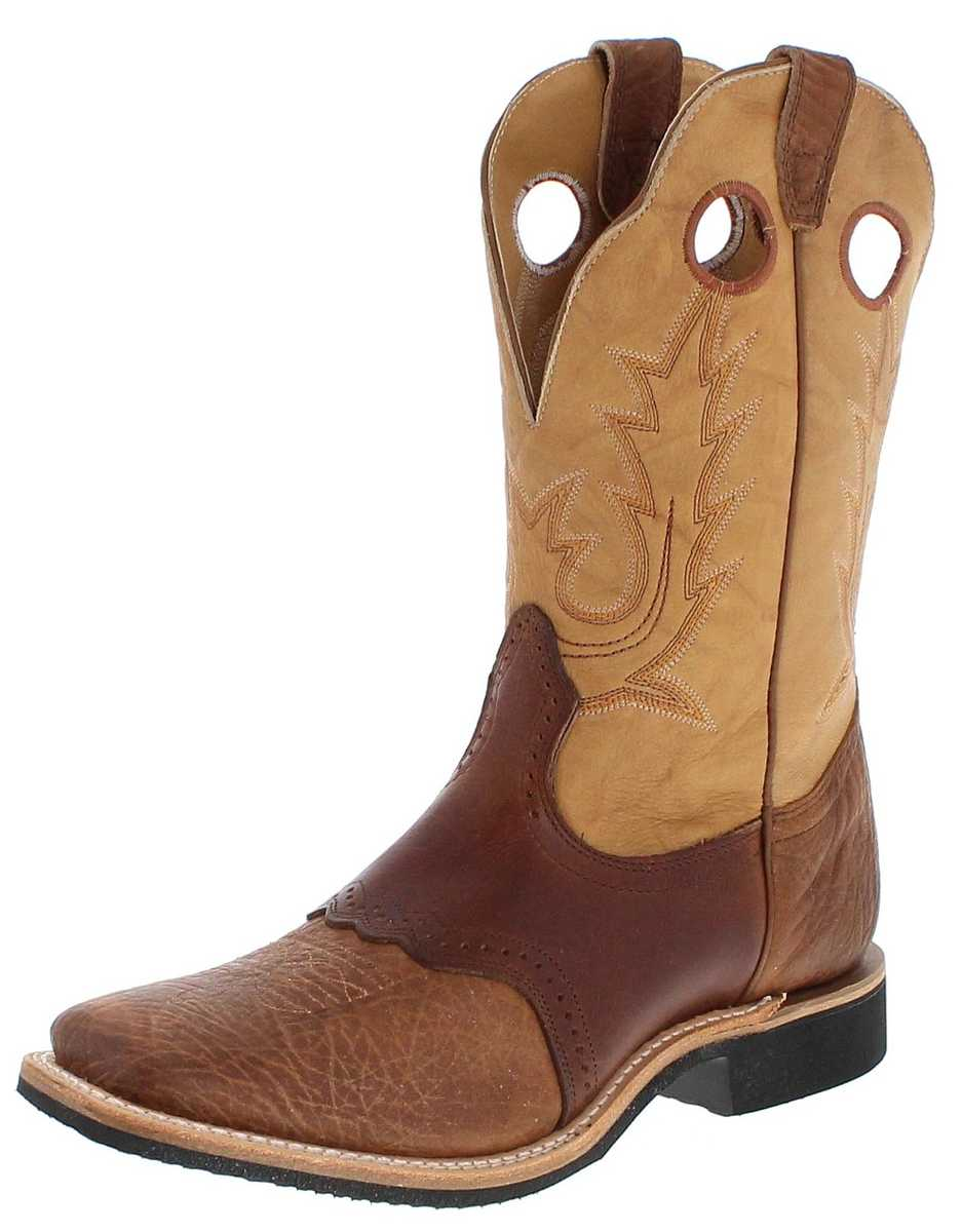 Boulet 5263 3E Sand Butterscotch Western Riding Boot - brown beige