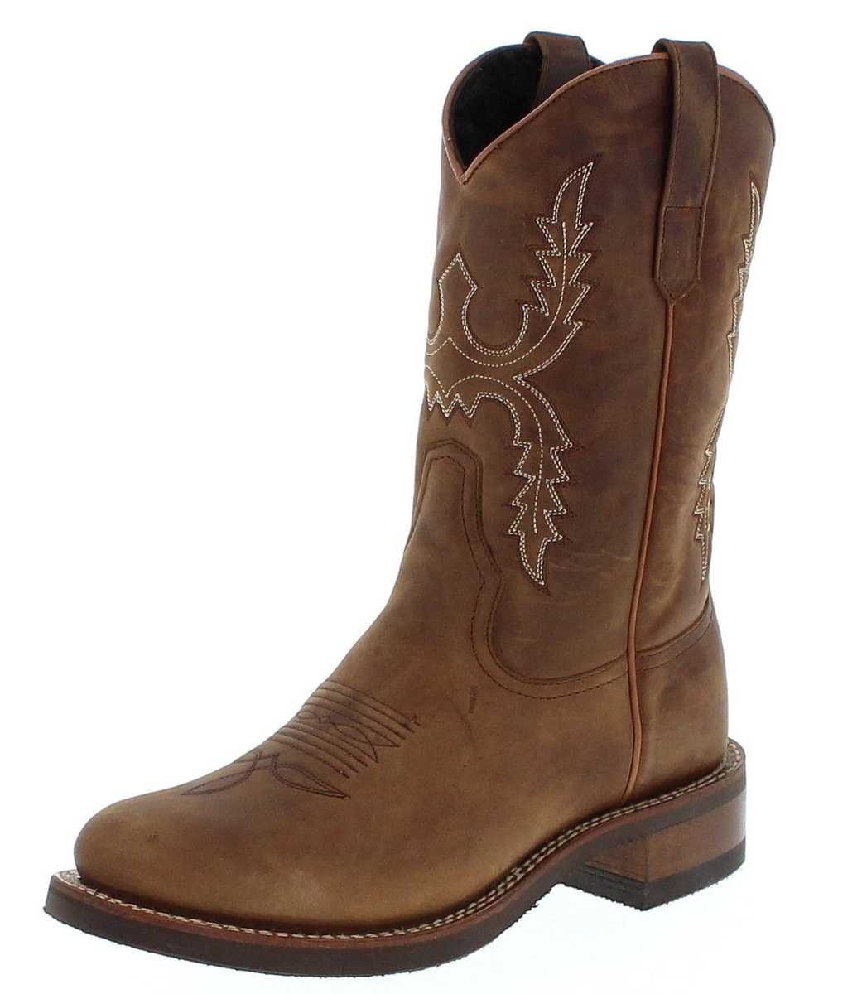 Sendra Boots 11615 Tang Herren Westernreitstiefel mit Merinofell Futter - braun