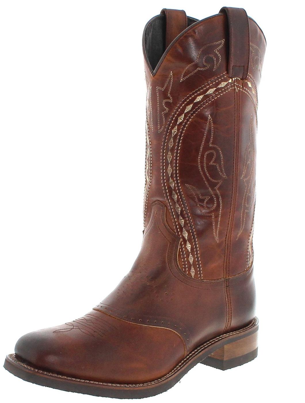 Sendra Boots 14339 Tang Marron Westernreitstiefel mit Thinsulate Isolierung - braun