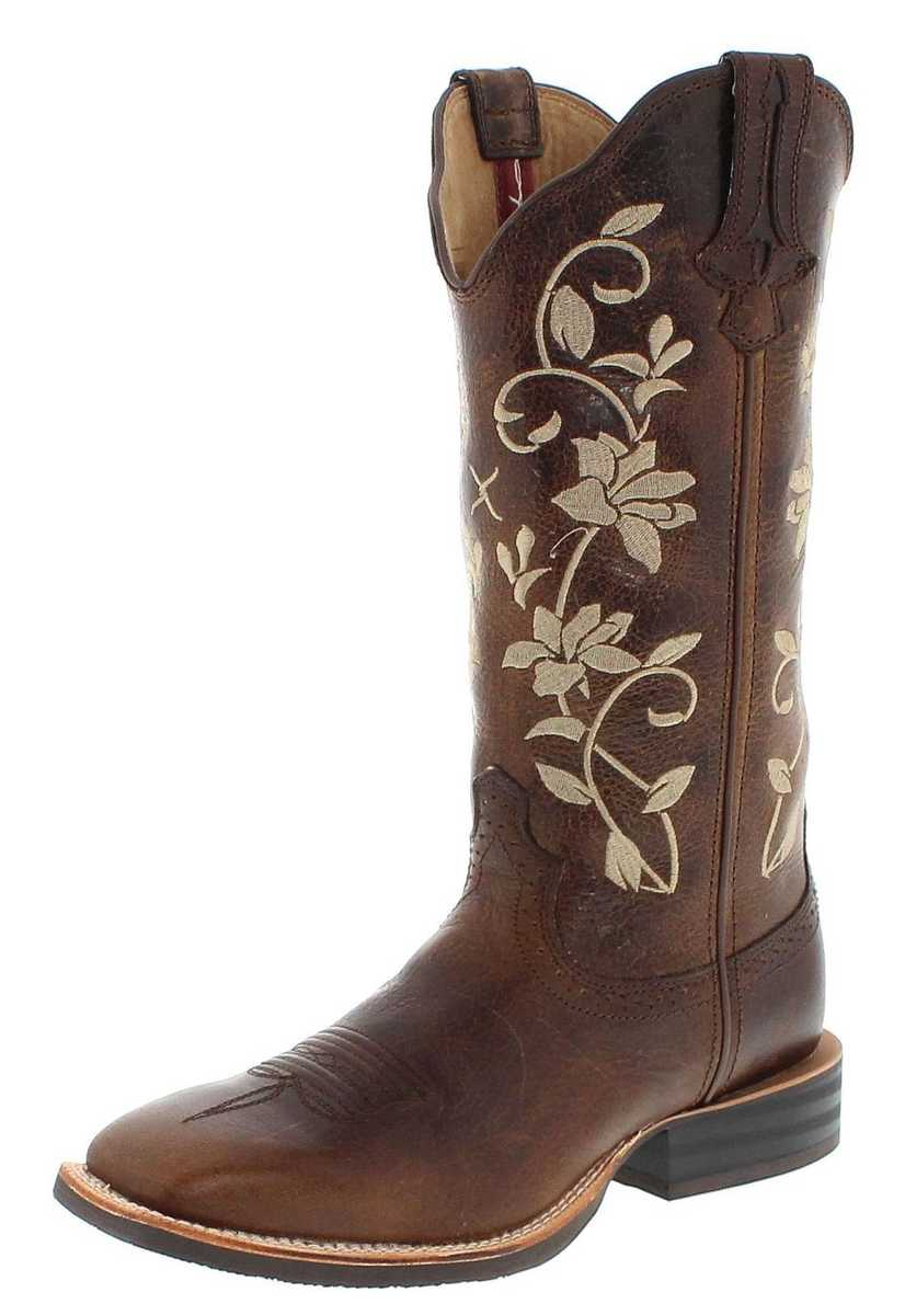 Twisted X Boots 1790 RUFF STOCK Bomber Western riding boot - brown blue