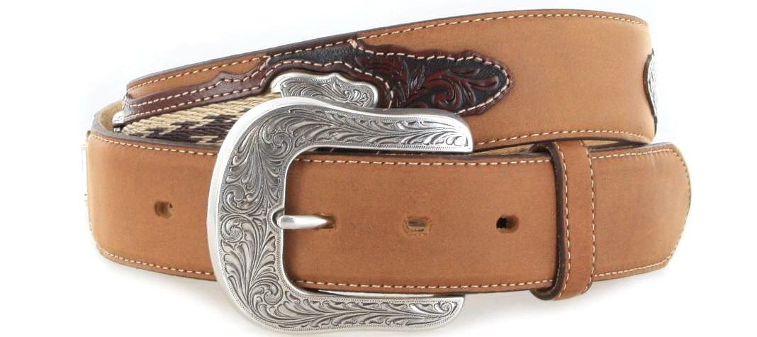 Justin Belts THE WESTERN C11414 Copper Western belt - brown