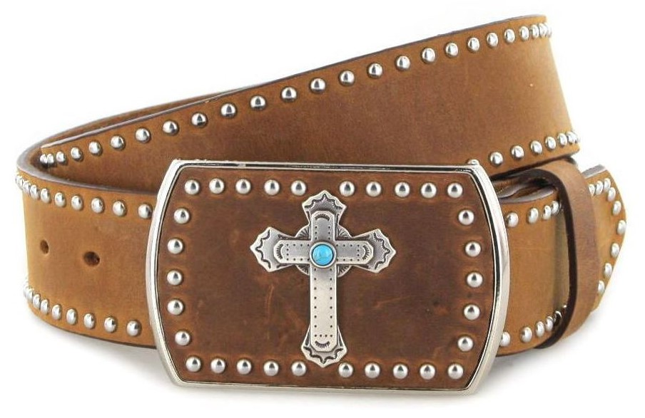 Justin Belts SANTA MARIA C21449 Brown Western belt