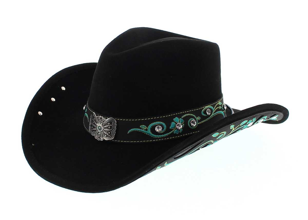 Dallas Hats SAVANNA Black Cowboy Hat