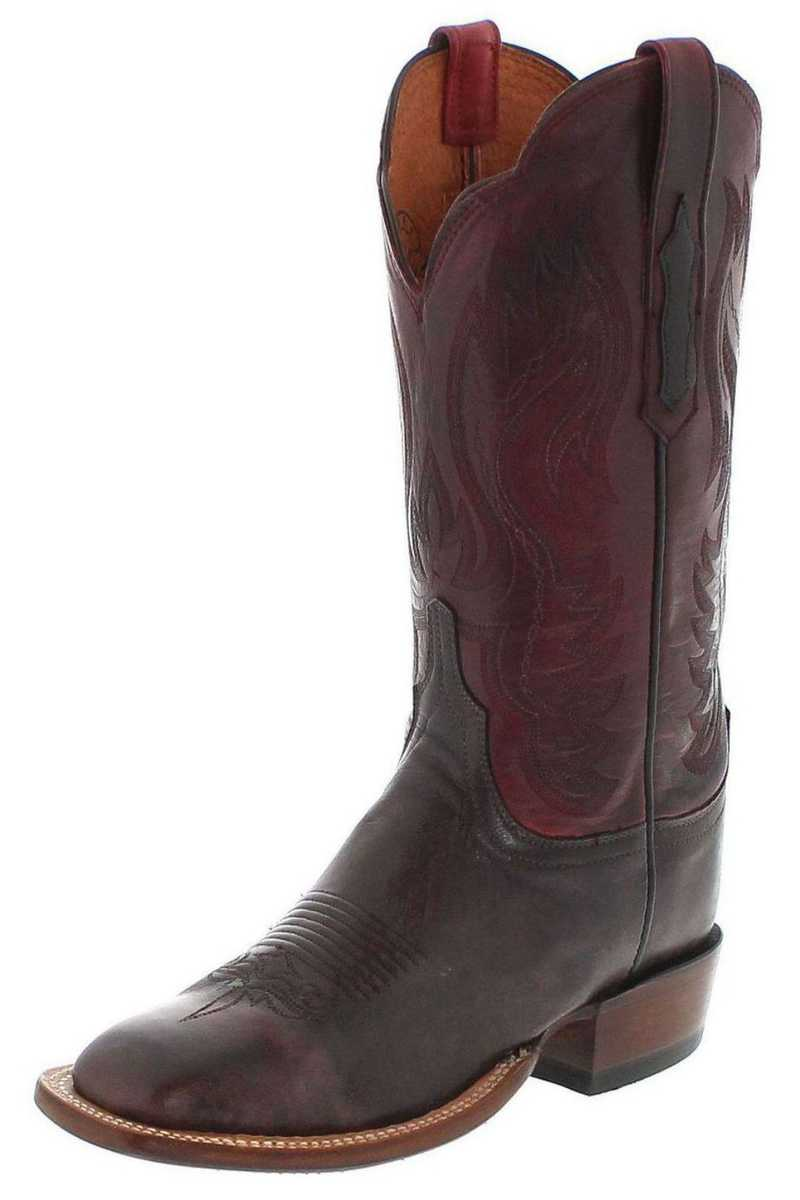 Lucchese SHELBY CL2527 Brown Red Westernstiefel - braun rot