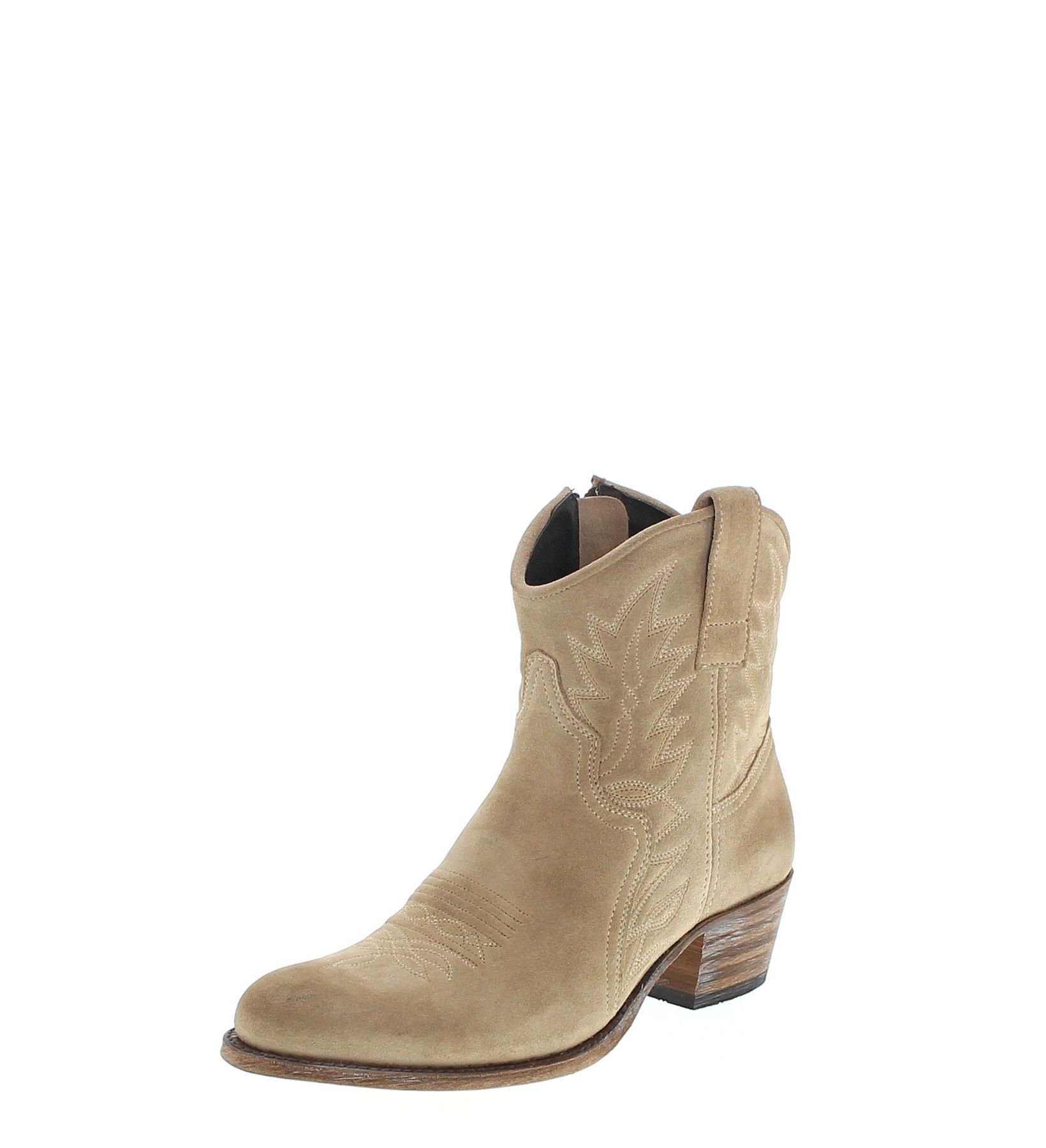 sendra boots 10163 firence western ankle boot beige fashion boots. Black Bedroom Furniture Sets. Home Design Ideas