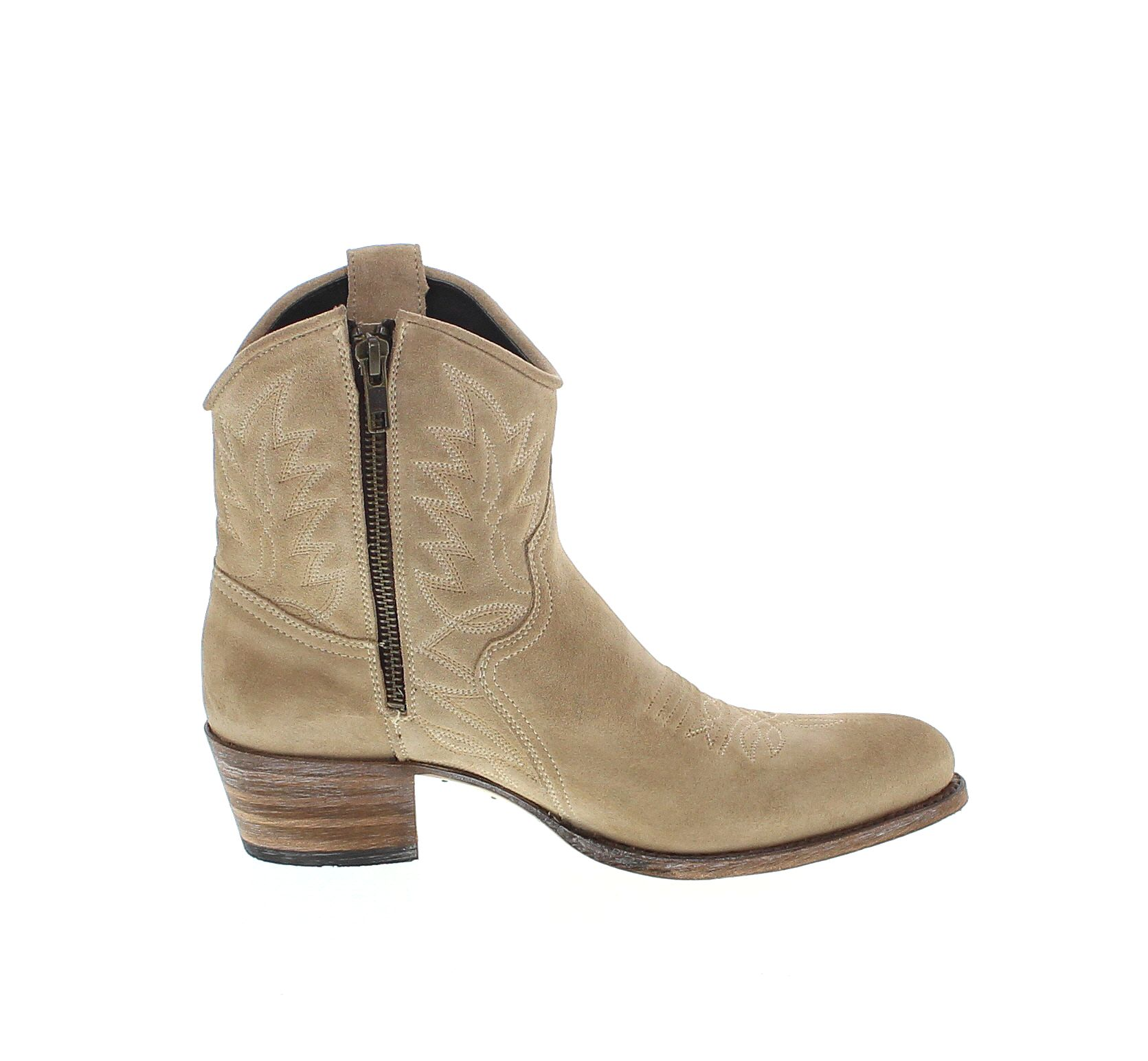 sendra boots 10163 firence western ankle boot beige