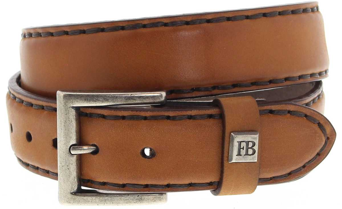 Fashion Boots FG5847 Cuero leather belt - brown