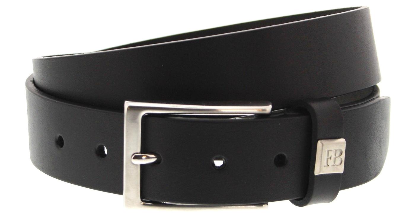 Fashion Boots FG5991 Negro business leather belt - black