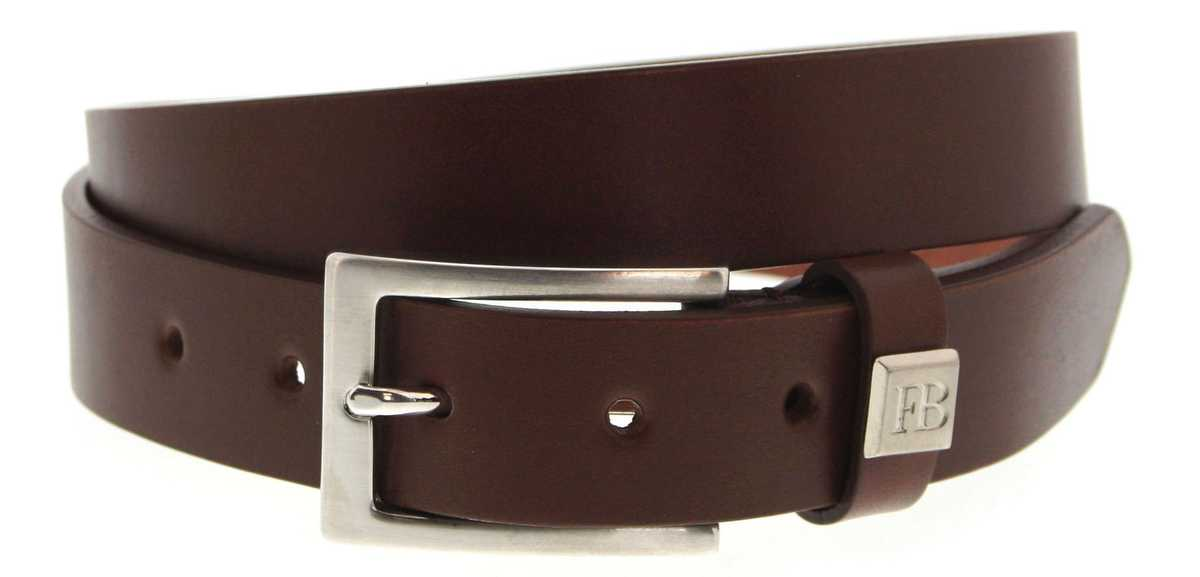 Fashion Boots FG5992 Muskat business leather belt - brown
