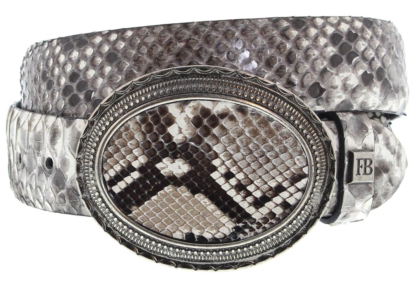 FB Fashion Boots FG5845 Piton Adria Exotic Belt - white