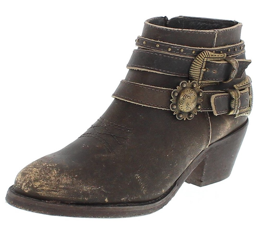 Circle G by  Corral Boots P5107 brown fashion ankle boot - brown