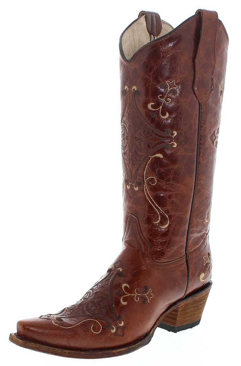 Circle G by Corral Boots L5063 LD Brown Western boot - brown