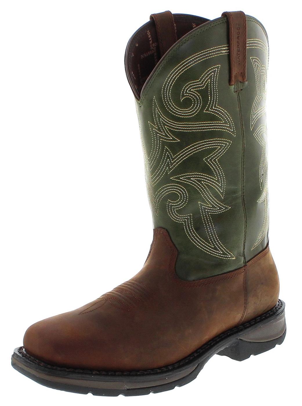 Durango Boots WESTERN DWDB039 WATERPROOF Brown Green Westernreitstiefel - braun grün