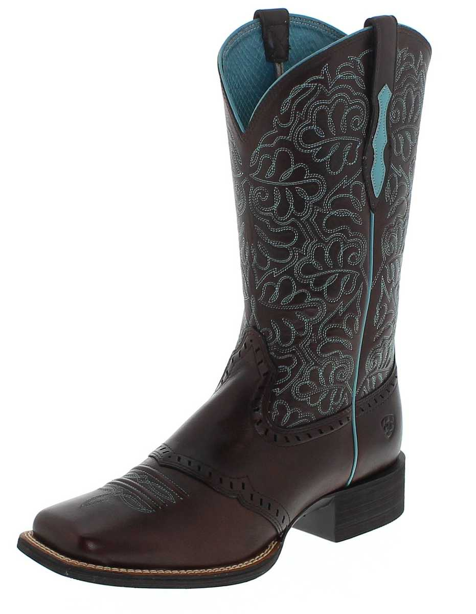 Ariat ROUND UP REMUDA 19907 Brown Western riding boot - brown