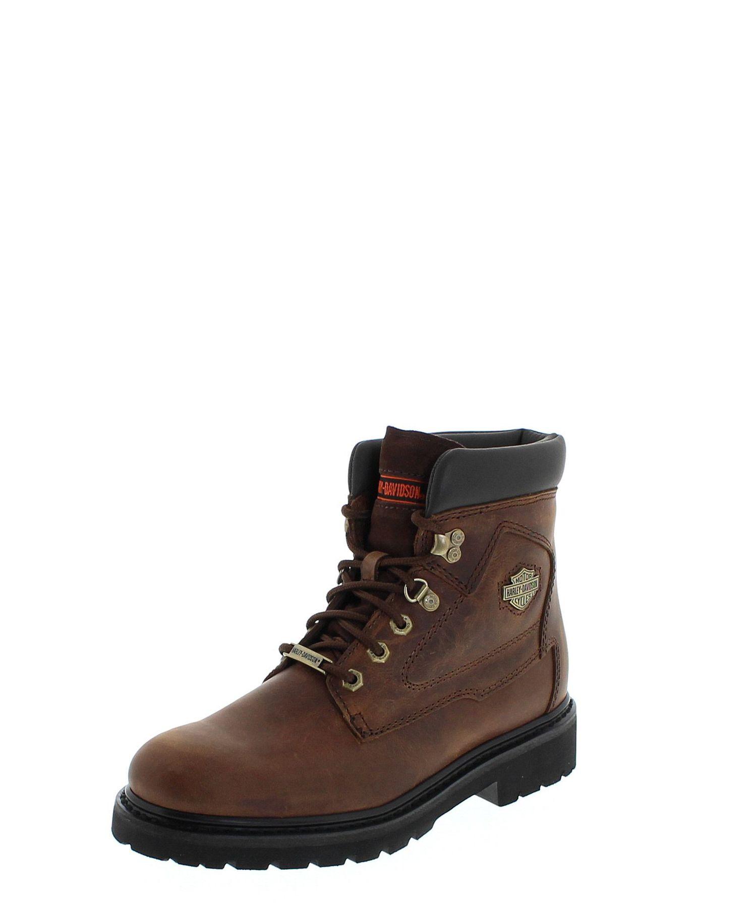 Harley Davidson Men-boots Bayport d93365-Brown