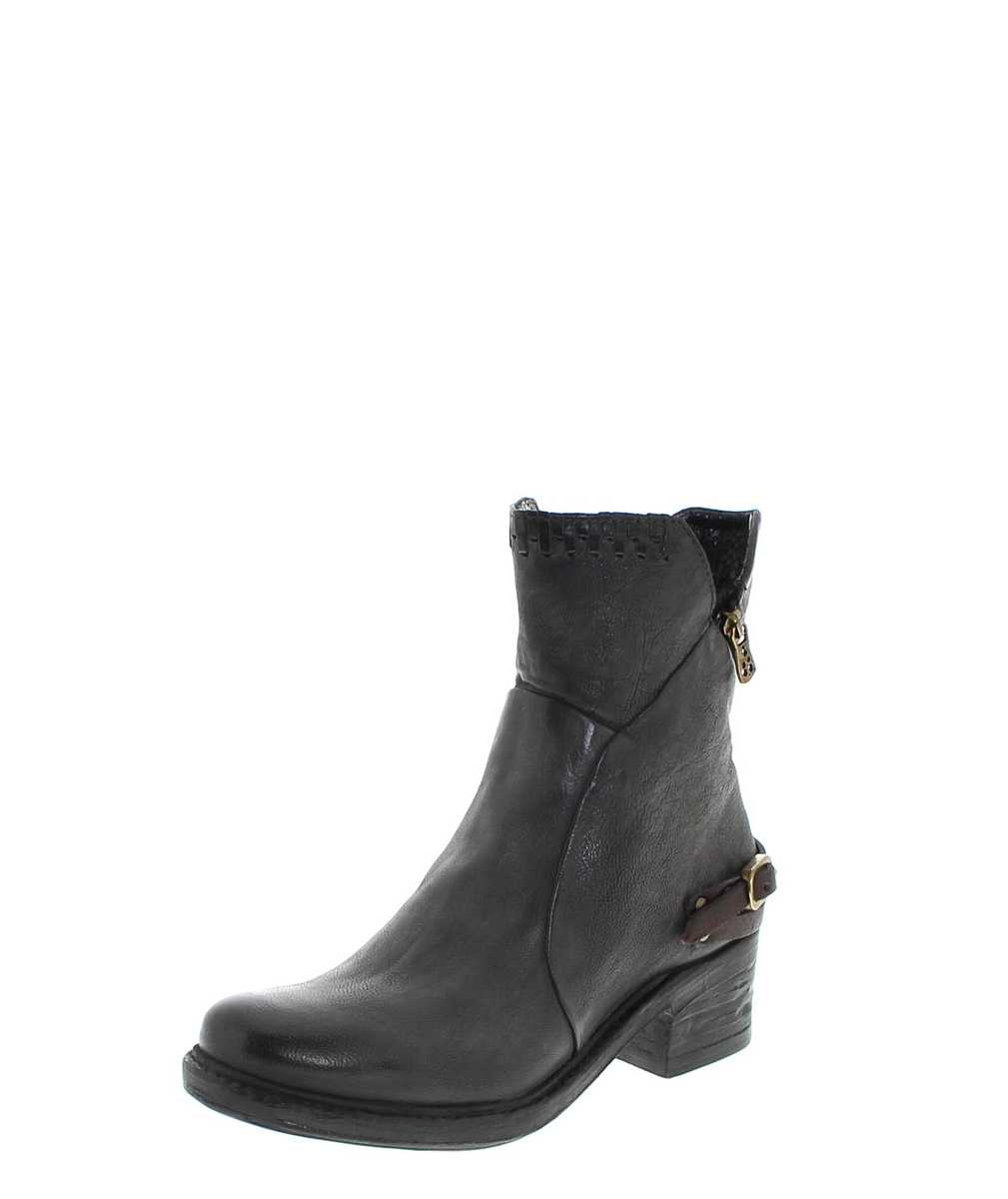 A.S.98 261202 Smoke Nero Ankle Boot - grey black
