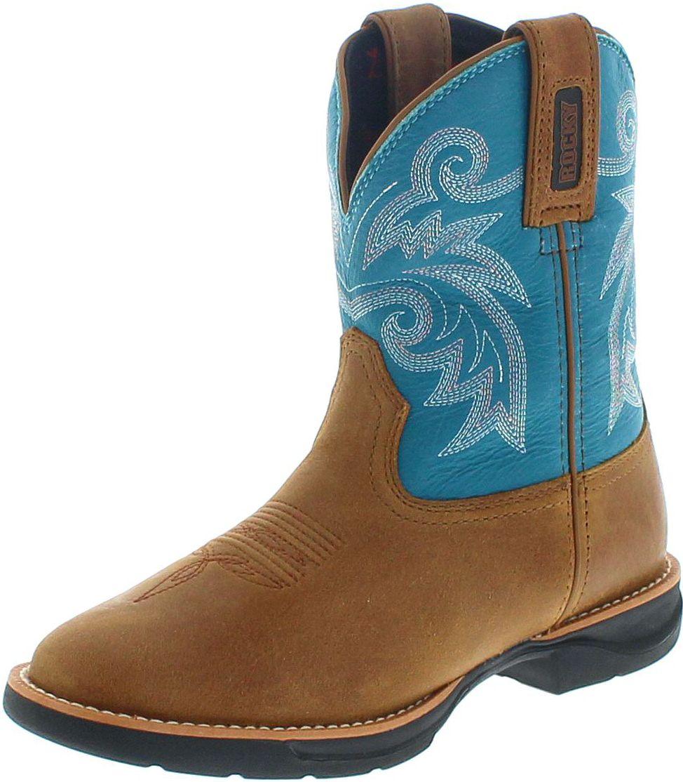 Rocky Boots RKW0219 M LT Brown Turquoise Westernstiefel - braun türkis