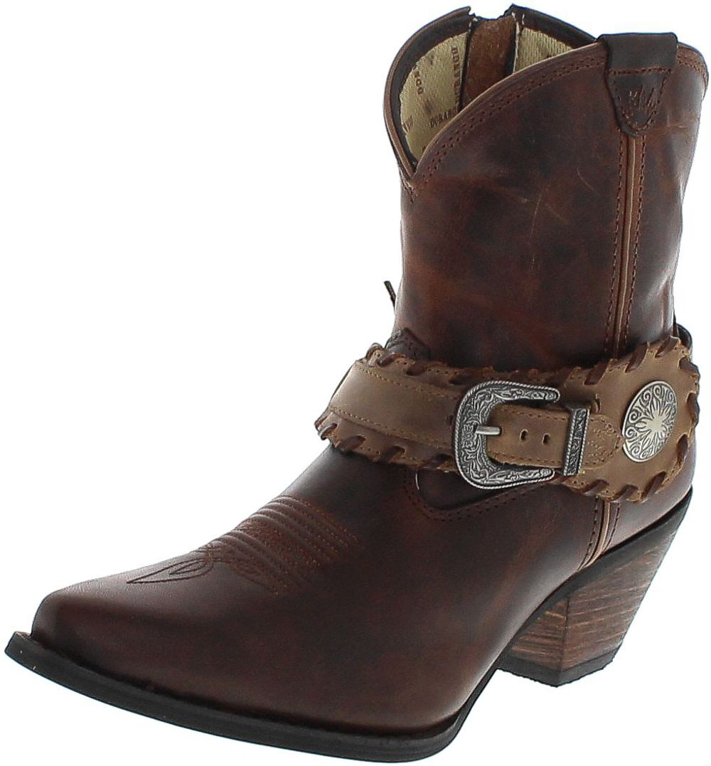 Durango Boots SPUR STRAP DCRD173 Brown western riding bootee - brown