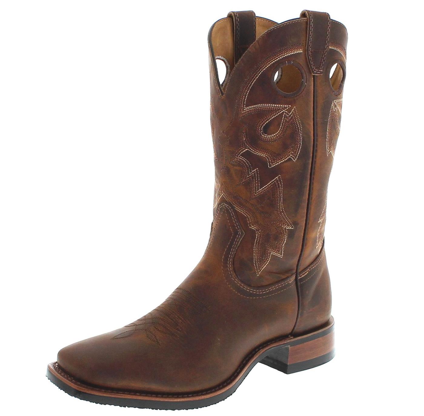 Boulet 6266 E Tan Spice Westernboots - brown
