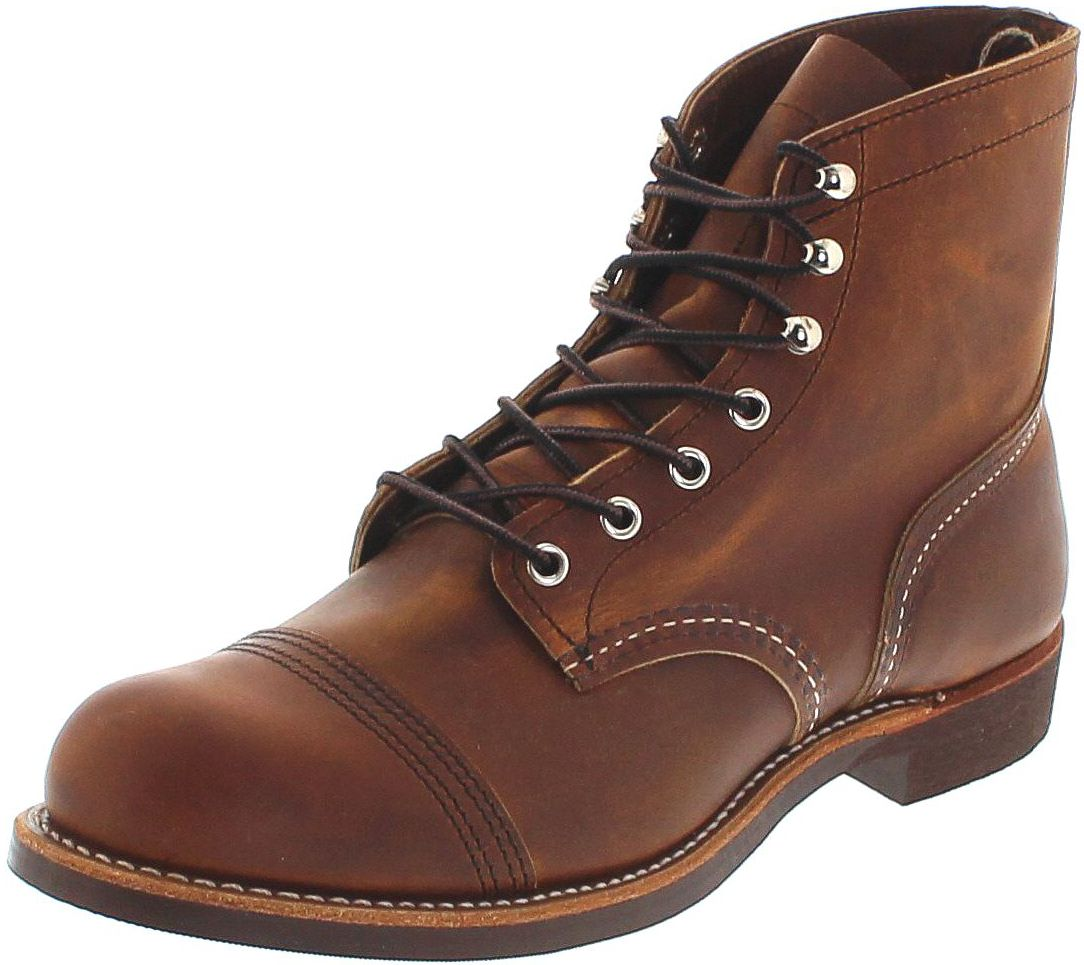 Red Wing Shoes IRON RANGER 8085 Copper lace-up boots - brown