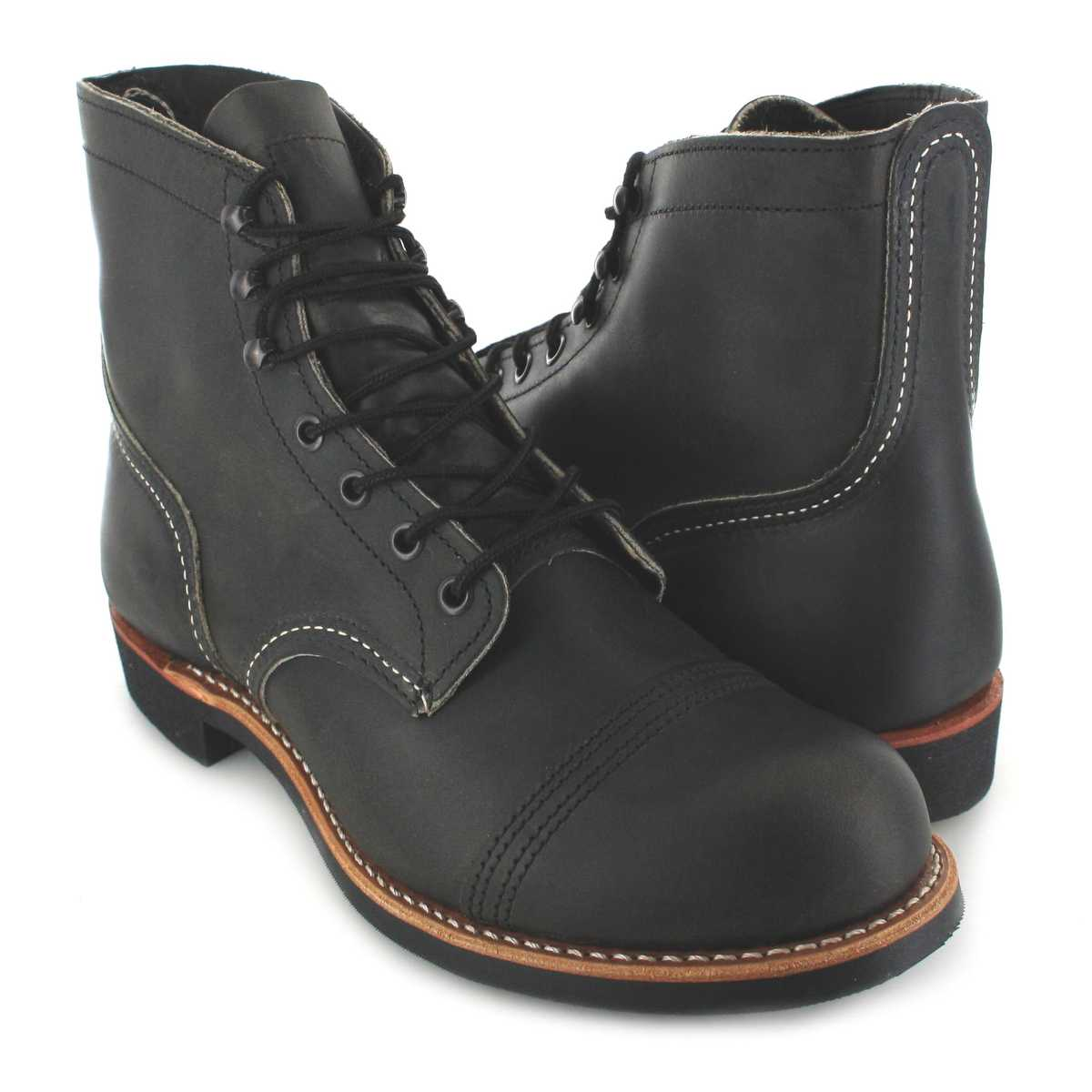 161ec7dbe97 Red Wing Shoes IRON RANGER 8086 Charcoal lace-up boots - gray