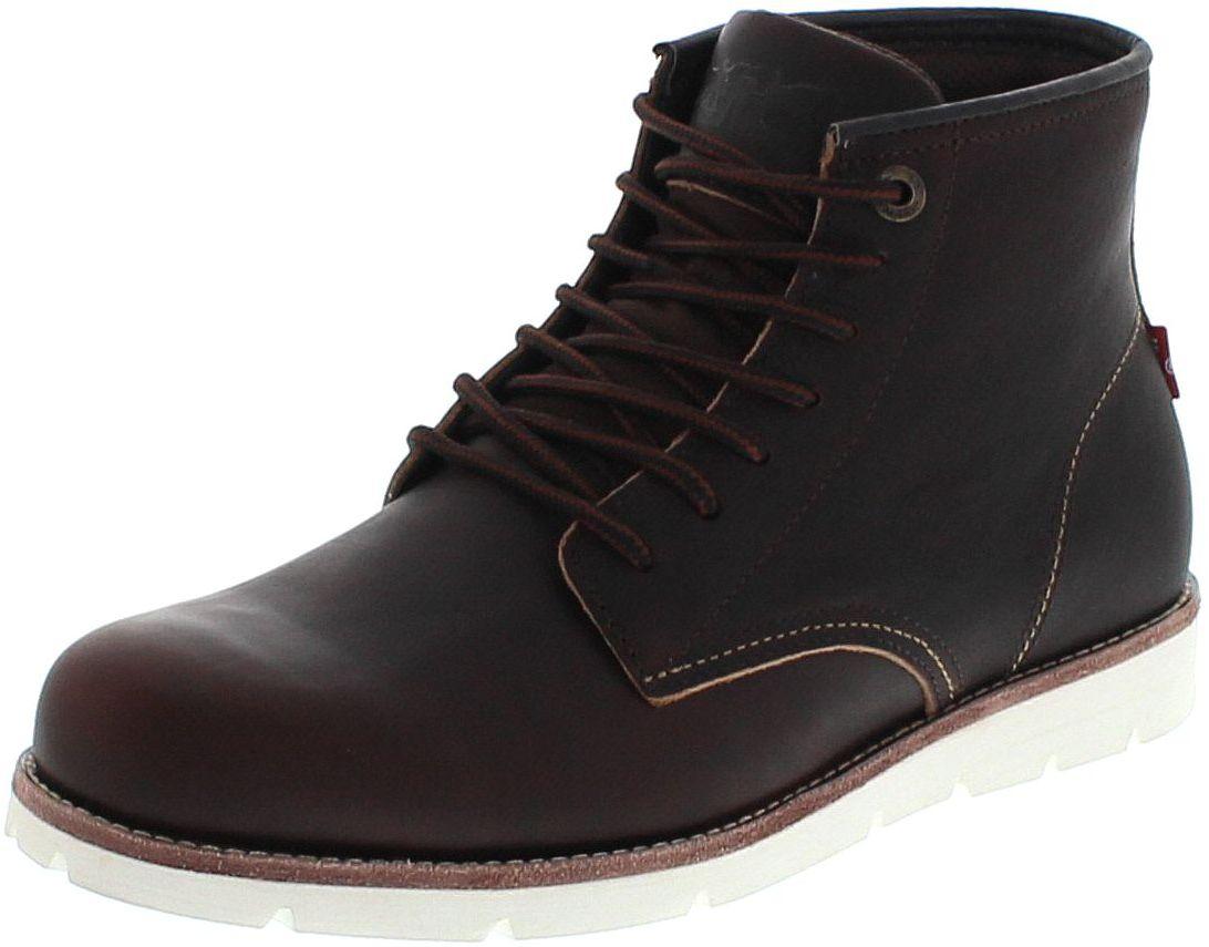 Levi´s Footwear JAX HIGH Dark Brown lace-up boot - brown