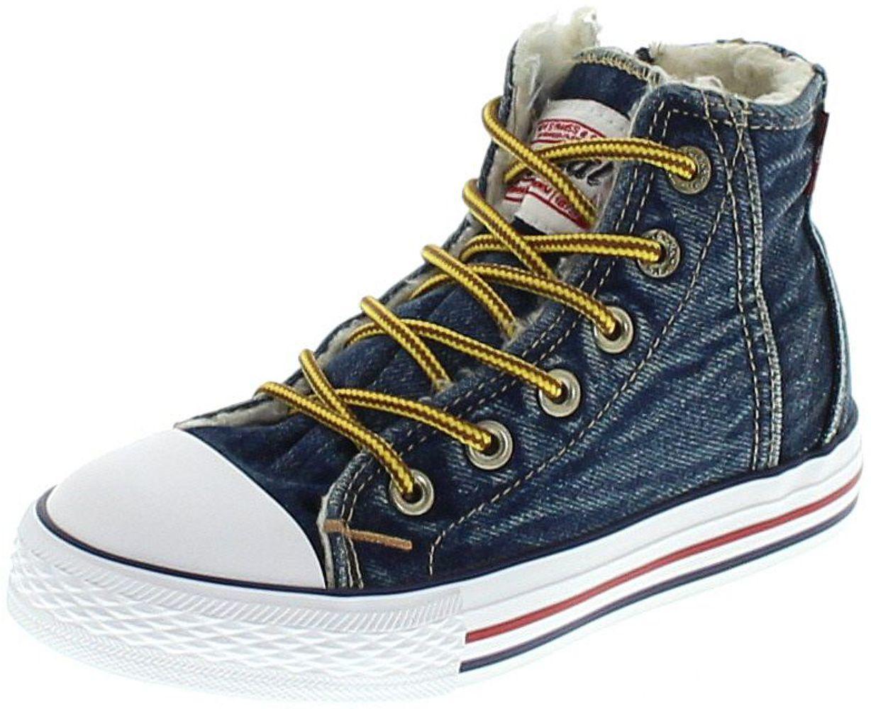 Levi´s Footwear ORIGINAL HIGH R TAB FUR I Blue Denim Kinder Schnürschuh - blau