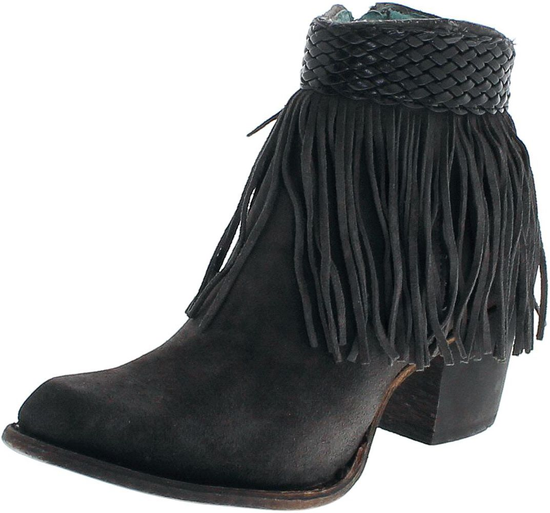 Corral Boots C3099 Black Grey Fashion bootee- black gray