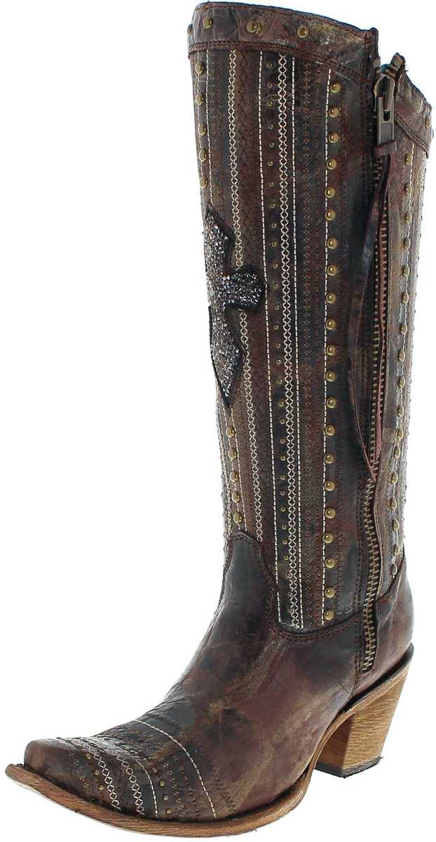 Corral Boots C2925 Brown Crystal westernboots - brown