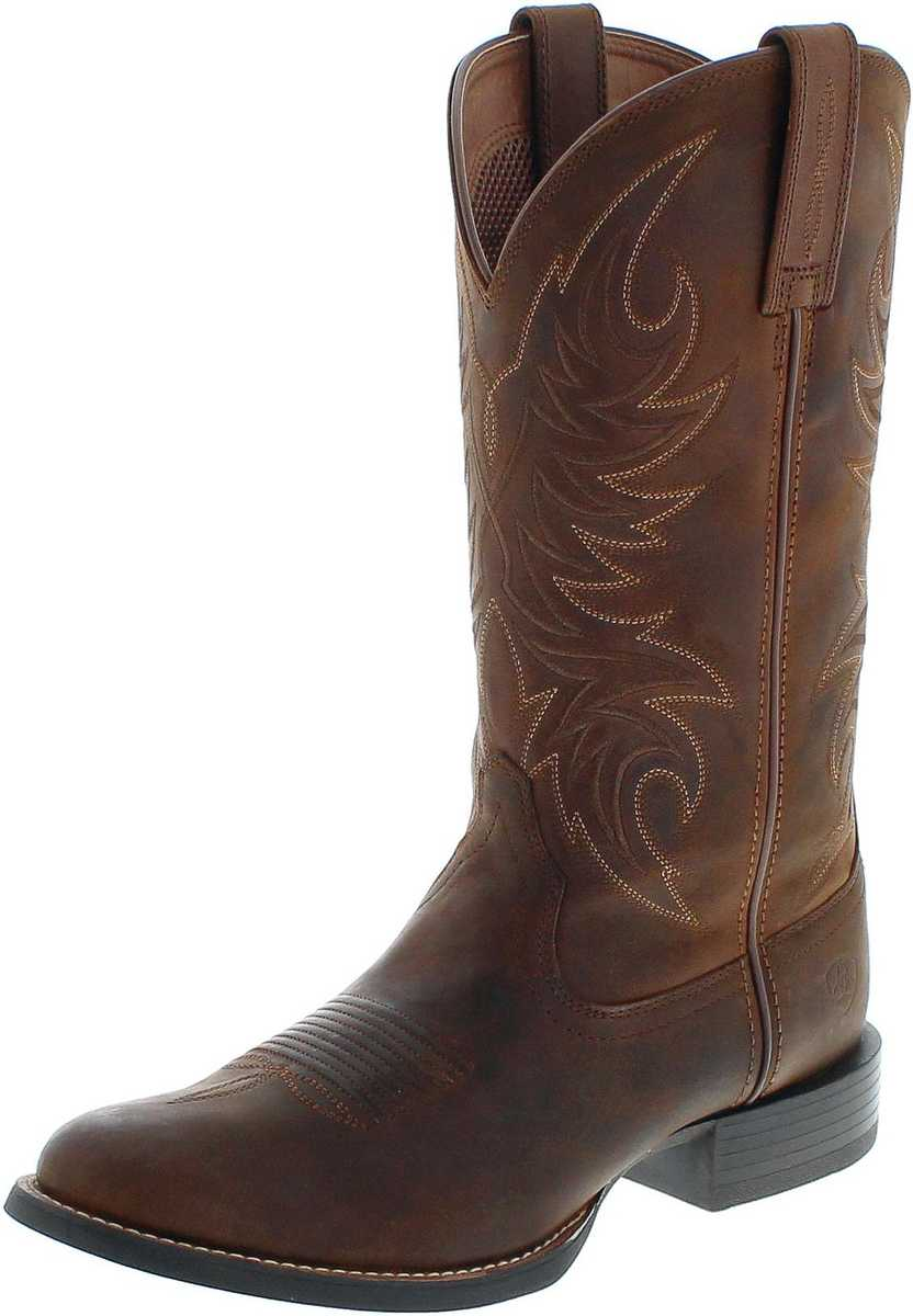 Ariat SPORT HORSEMAN 21700 Rafter Tan Western riding boot - brown