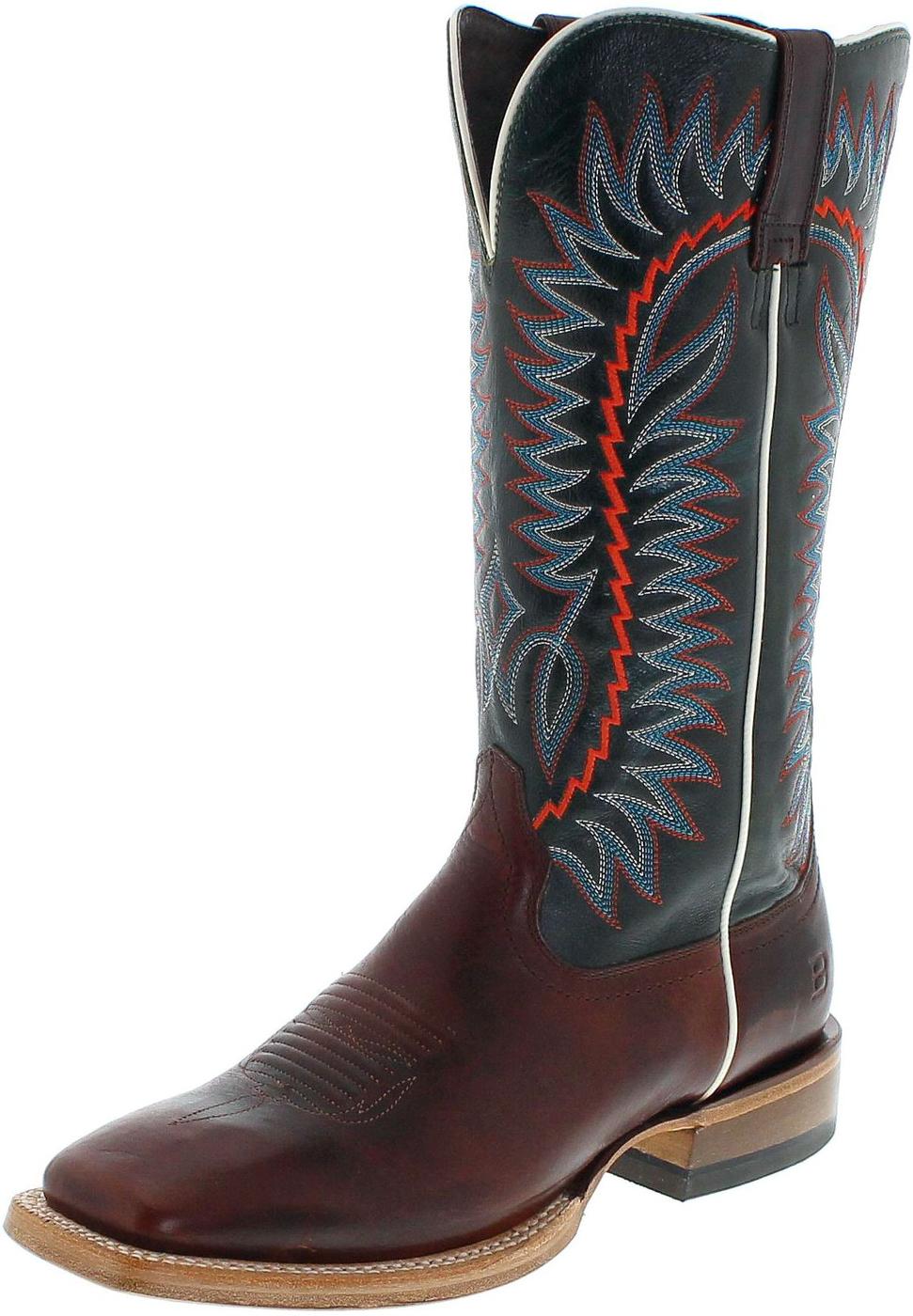 Ariat RELENTLESS ELITE 21671 Texaco Cognac Sic Em Sapphire Western riding boot - brown blue