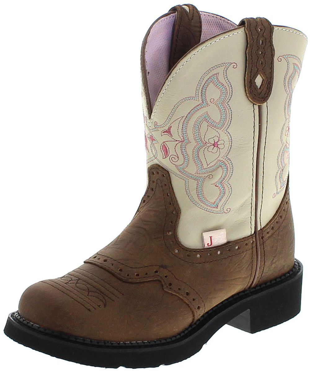 Justin Boots L9924 westernboots - brown white