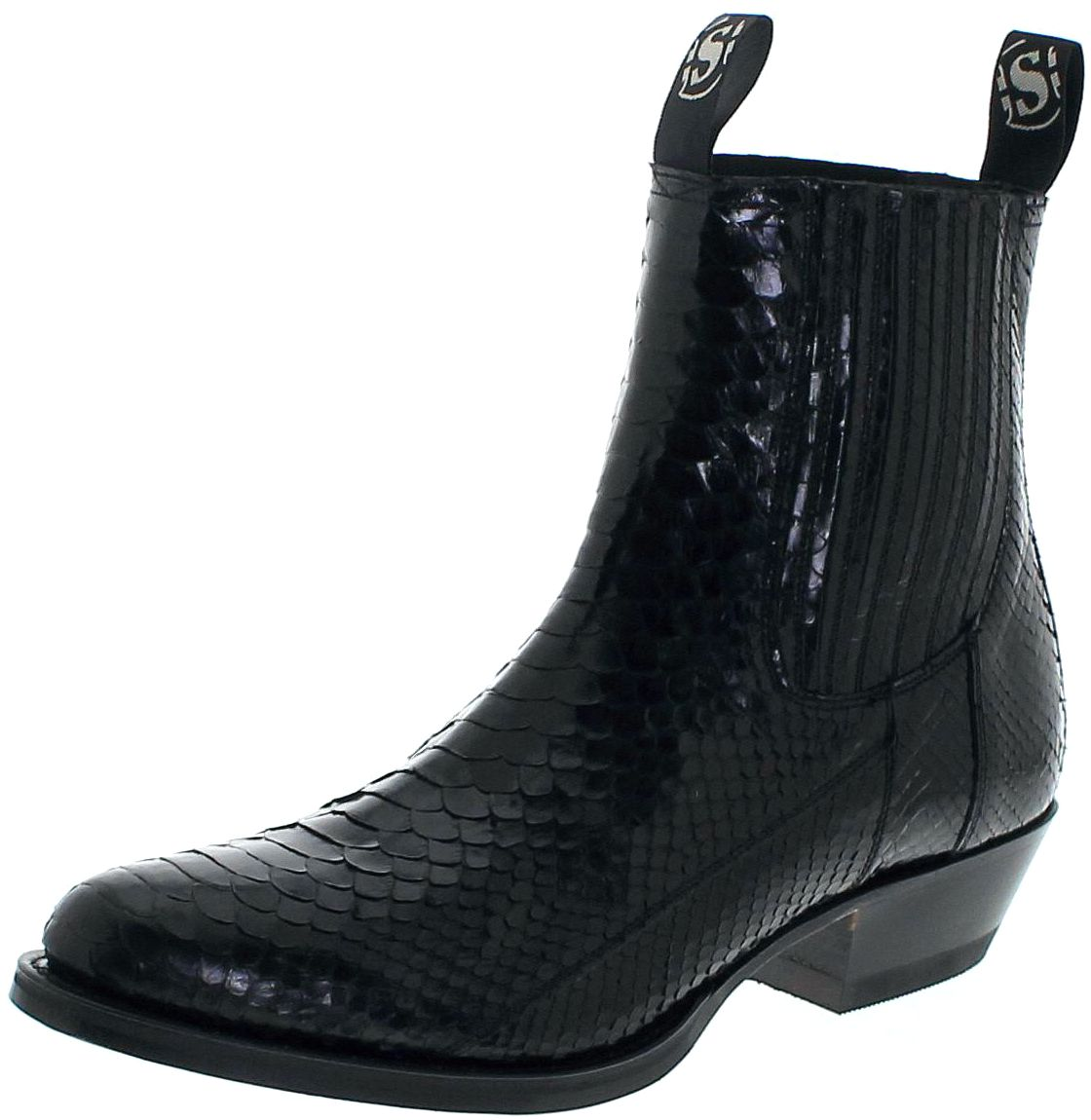d5ffbbec8f500 Sendra Boots 1692P Exotic Westernboot made of full python skin - black –  Bild 1