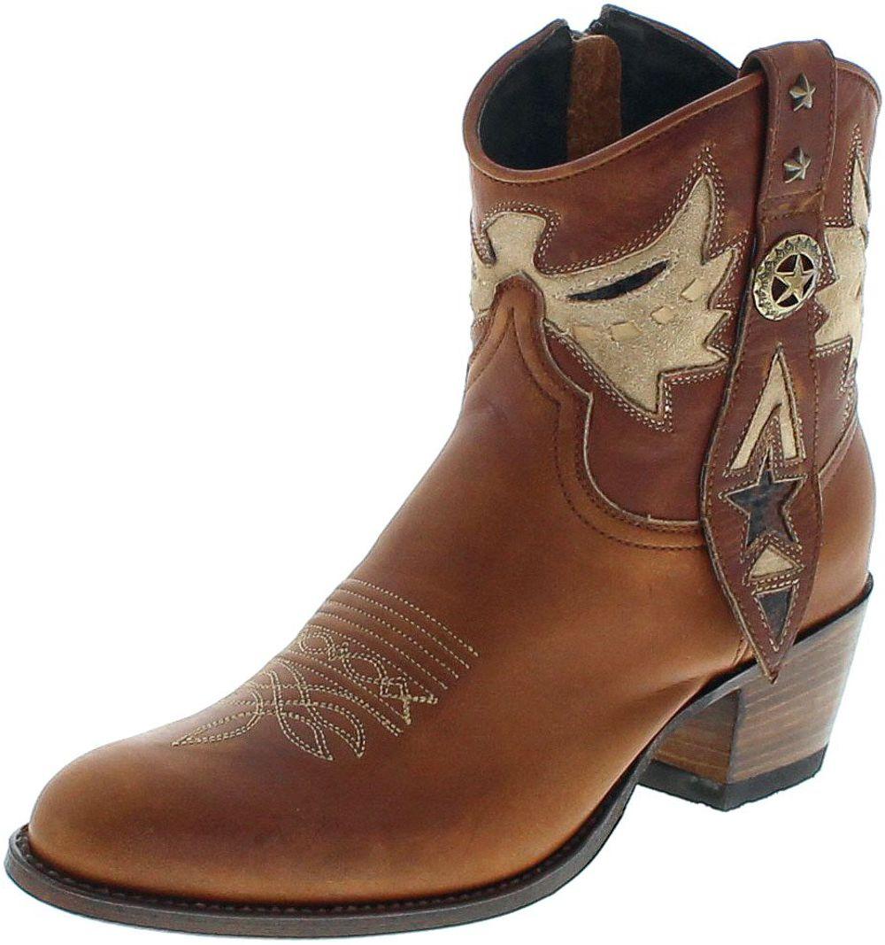 Sendra Boots 14034 Miele Firence Fashion Westernstiefelette - braun