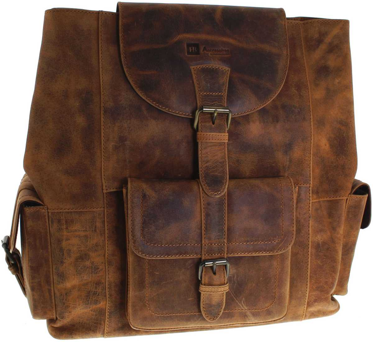Fashion Boots FB Bags 1213 Backbag Distressed Red Ledertasche