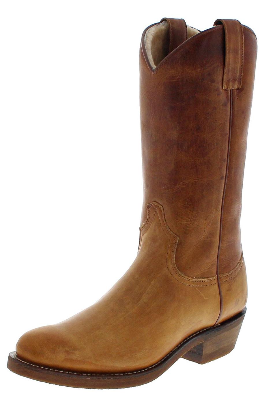 Sendra Boots 5588F Tang Herren Winter Westernstiefel mit Merinofell Futter - braun