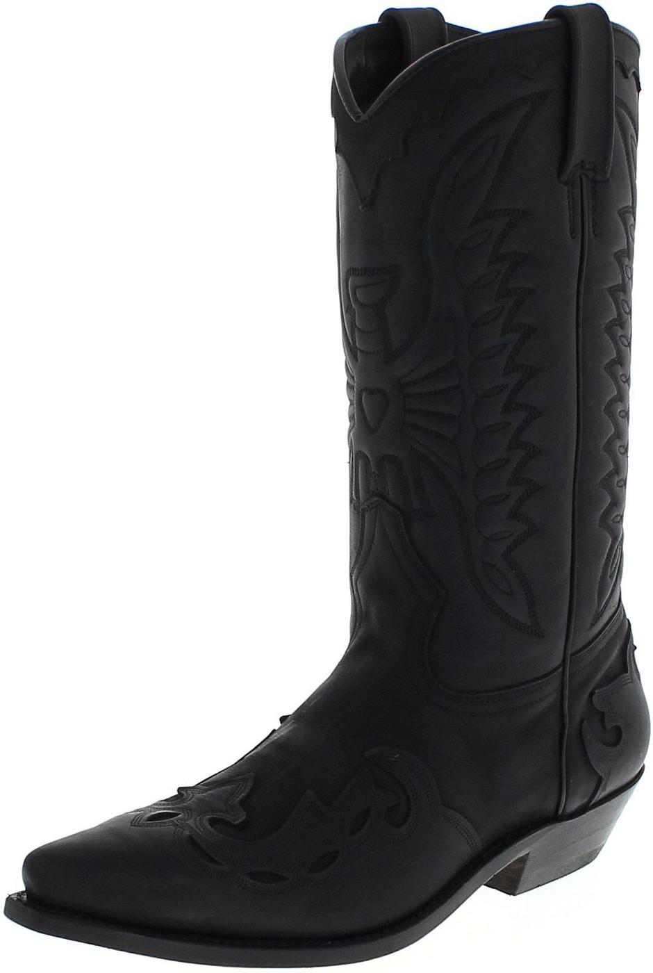 Primeboots 670 Nobuk Black Cowboy boots - black