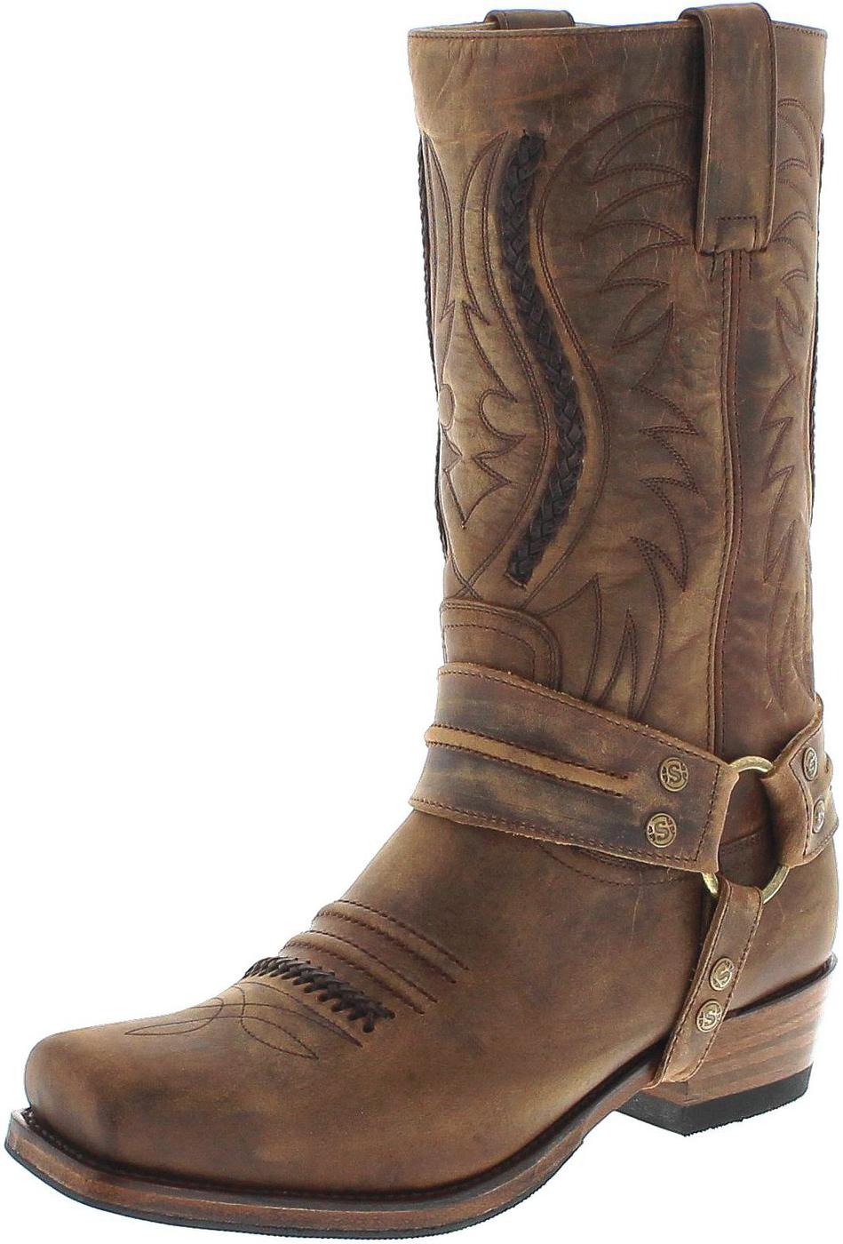 Sendra Boots 12209 Mad Dog Tang Lavado Bikerstiefel - braun