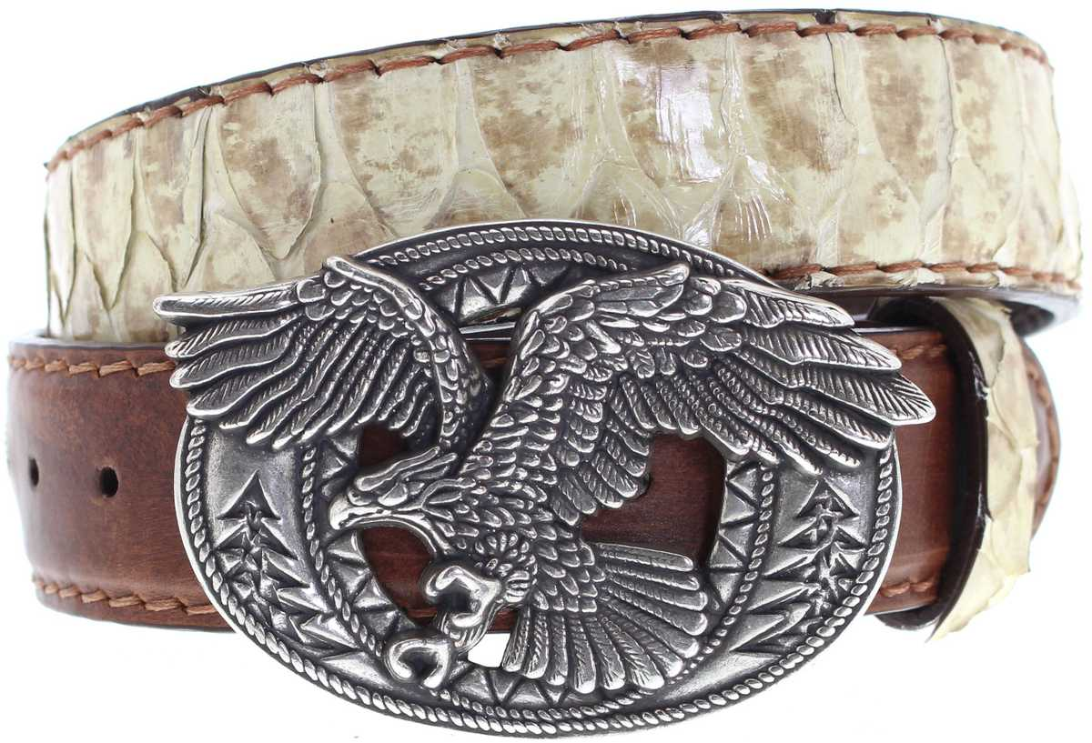 Mayura Boots MB1106 Piton Panizo Cuero exotic leather belt - beige brown