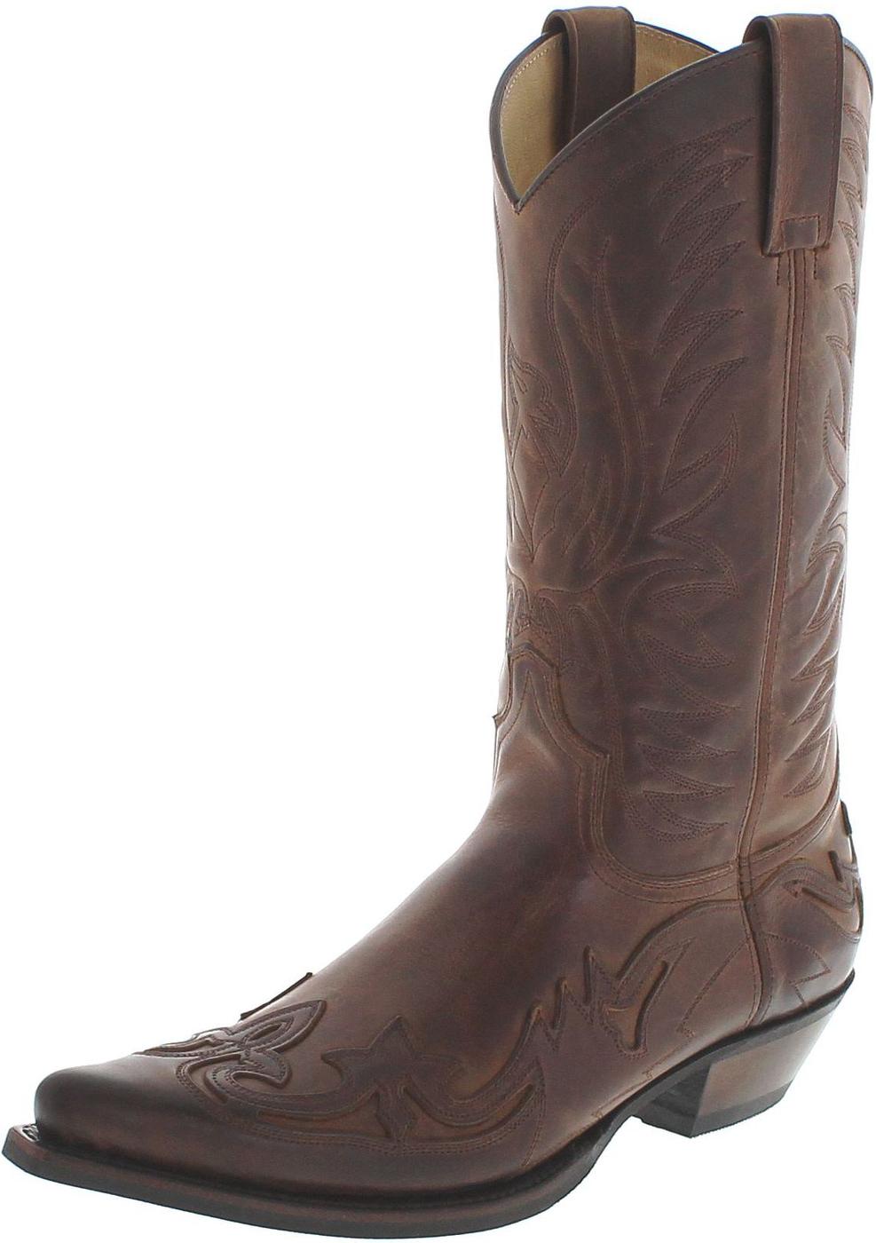 Fashion Boots BU1005 Camello Usado Marron Cowboy boot - brown