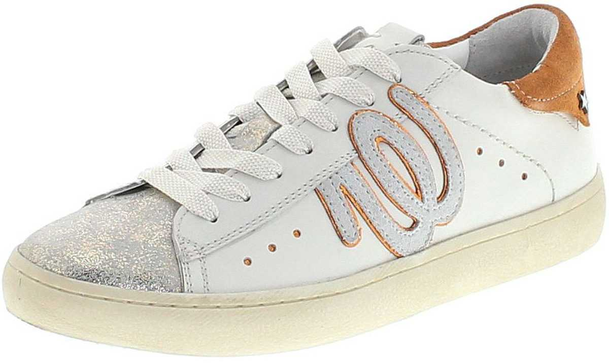 Wrangler WL181532 CLEVER WRG Gold Orange Damen Freizeit Sneaker - weiß gold orange