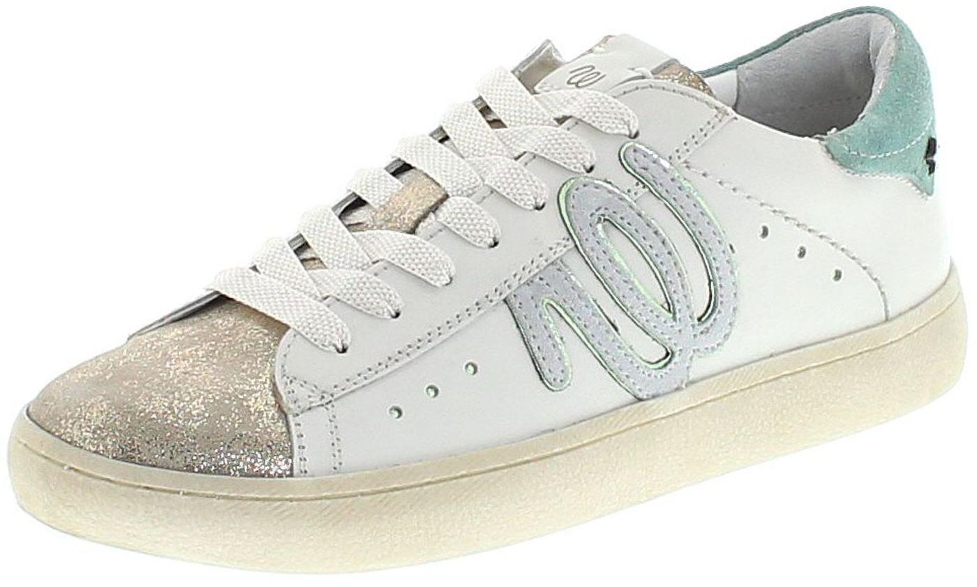 Wrangler WL181532 CLEVER WRG Silver Green Damen Freizeit Sneaker - weiß silber grün